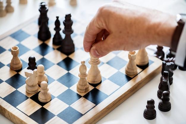 チェスゲームビジネス戦略コンセプト
