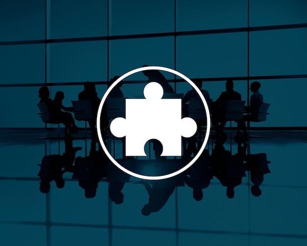 ジグソーパズルパートナーシップチームワークチームコンセプト