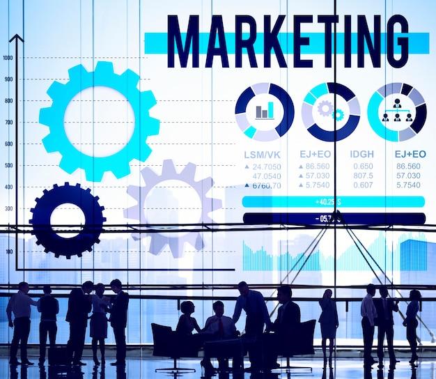 マーケティング広告商業振興コンセプト