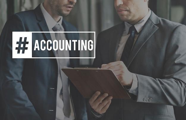 会計マーケティング財務チームワークのアイコン