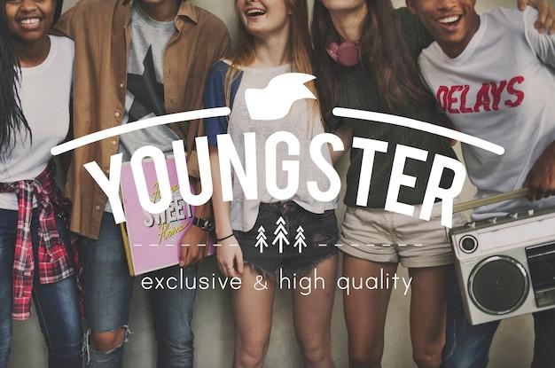 若者のグループ