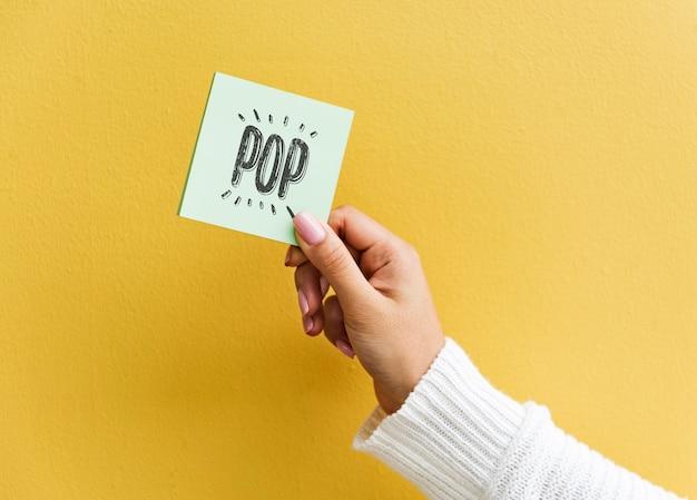 Макетное пространство для дизайна на бумажной доске