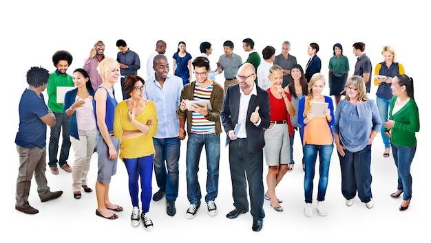 多様な人々の大グループ