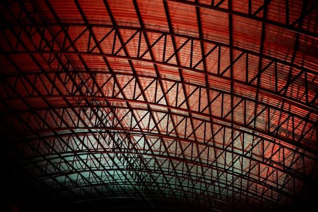 屋根の抽象模様