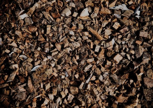 ココナッツスパッツ殻繊維の山
