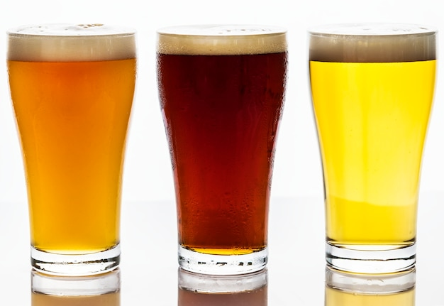 ドラフトビールマクロ写真のパイント