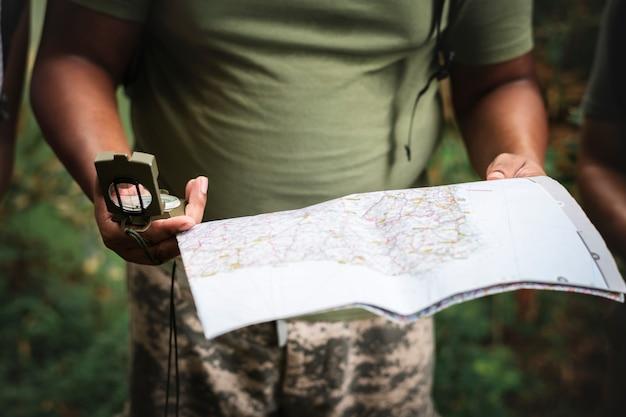 道順の地図を確認する