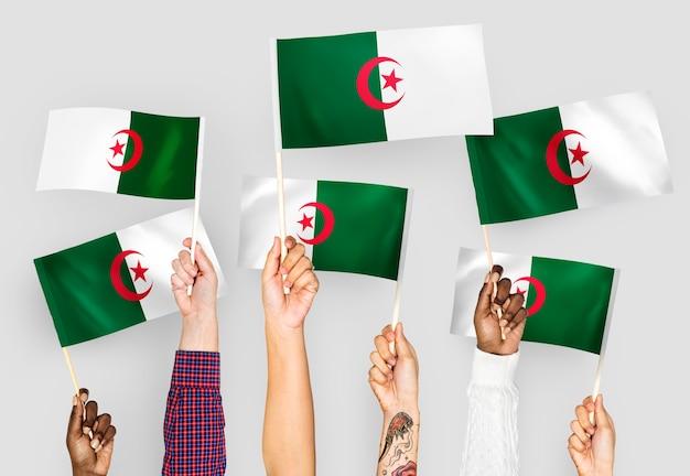 アルジェリアの手を振る手