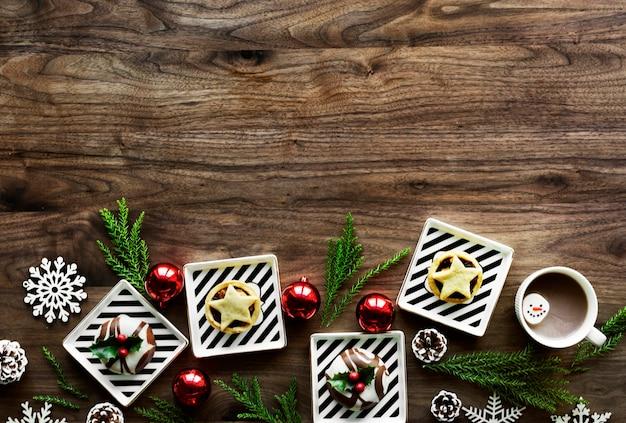 クリスマスデザインスペースの壁紙