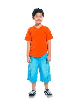 若いアジア人の少年