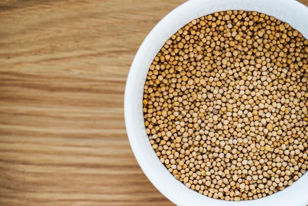 コリアンダー種子のクローズアップ