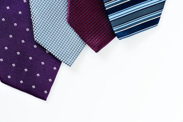 ネクタイのクローズアップ