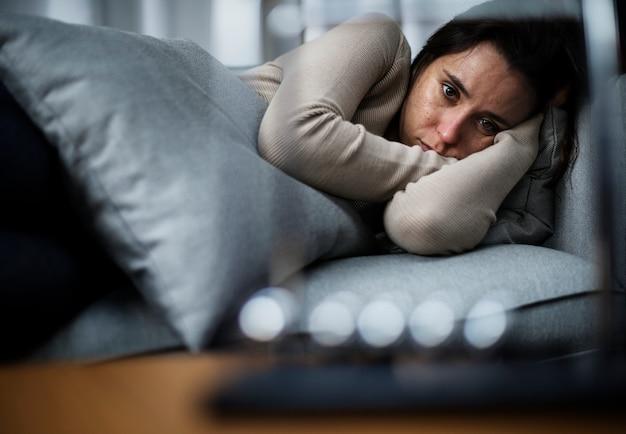 うつ病の女性