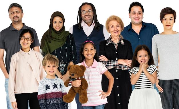 人の世代の多様性は、一緒にスタジオを隔離