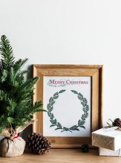クリスマスカードの手描き写真
