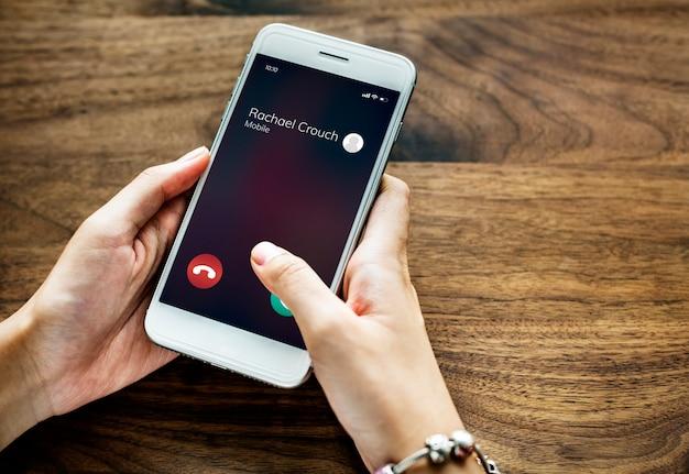 呼び出し元の携帯電話