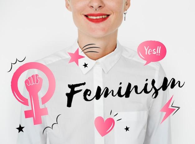 フェミニズム平等信頼女性