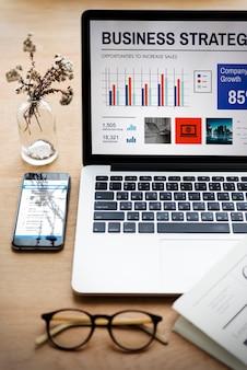 Концепция технологии рабочего стола рабочего стола для ноутбука