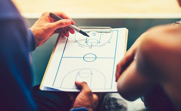 バスケットボールの試合を計画する