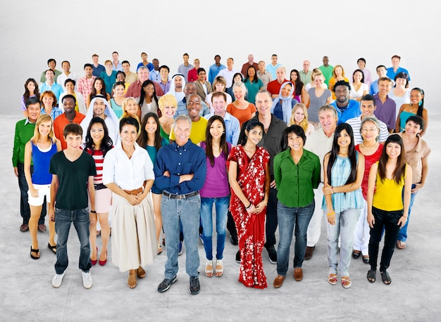 多様な人々スタジオのグループ