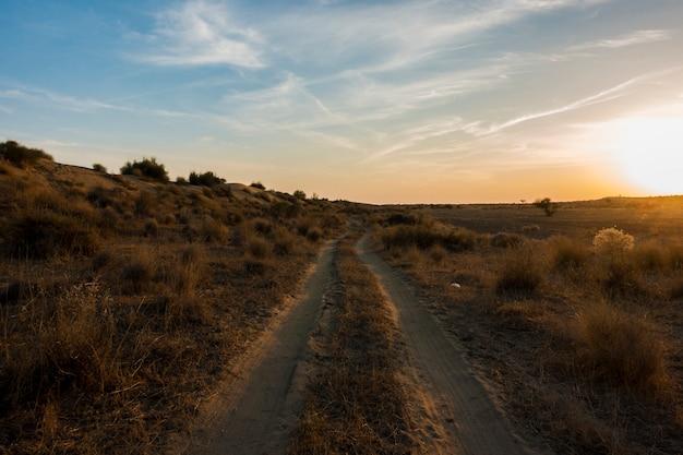 ラージャスターン州のタール砂漠