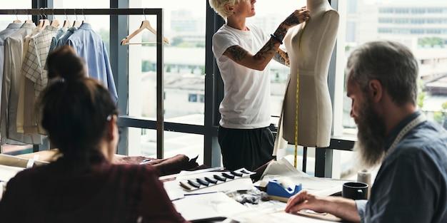 ファッションデザインマネキン測定コンセプト