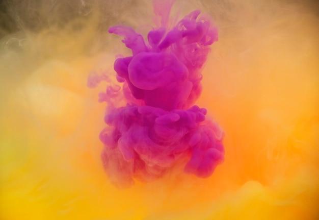 水に溶けるアクリル色
