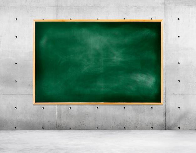 空の部屋の黒板