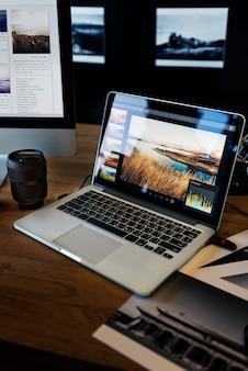 Концепция редактирования студийной фотографии камеры
