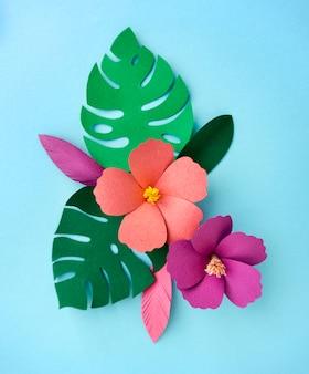 熱帯手作りペーパークラフト自然花びら