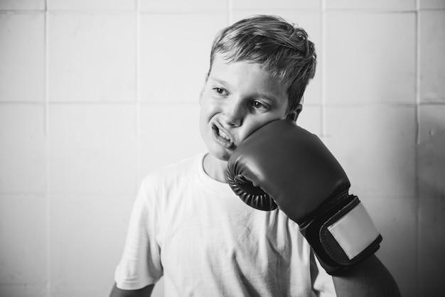 ボーイトレーニングボクシング運動運動のコンセプト