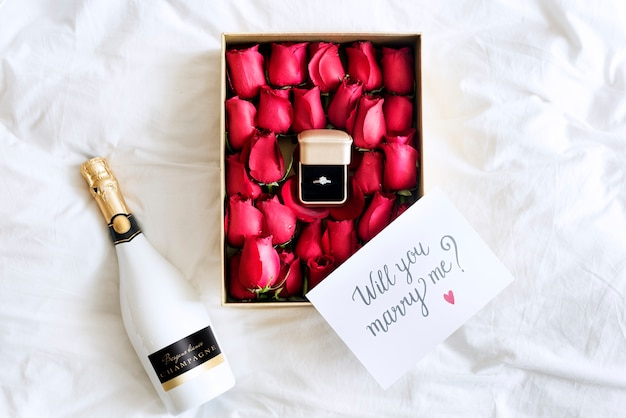 ロマンチックな結婚提案