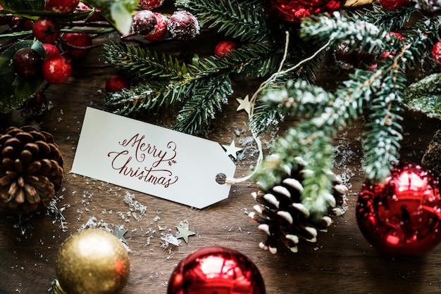 クローズアップ、クリスマス、希望、カード、タグ
