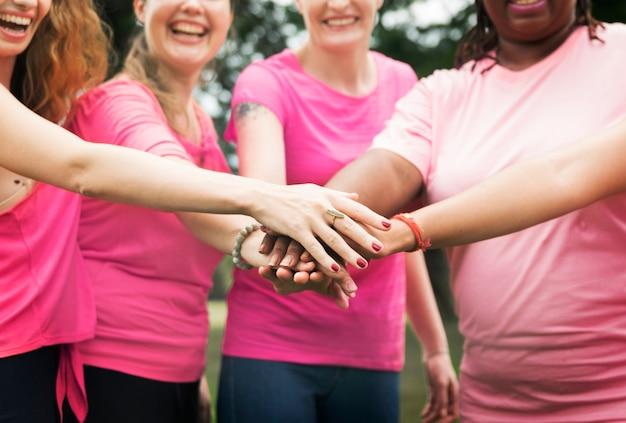 乳がんと戦っている女性
