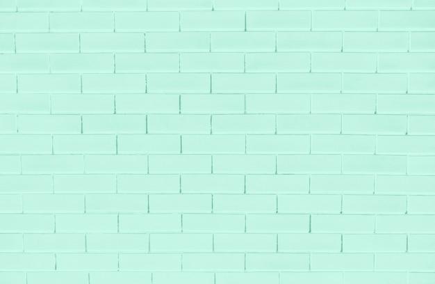 緑のレンガの壁のテクスチャ背景