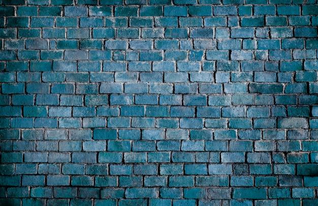 青い質感のレンガの壁の背景