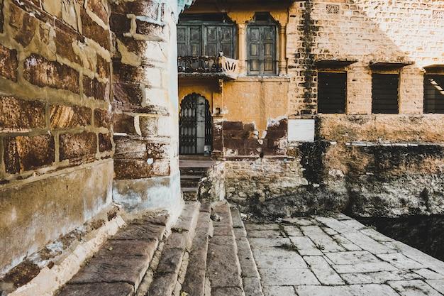 インド、ラジャスタンの古い家