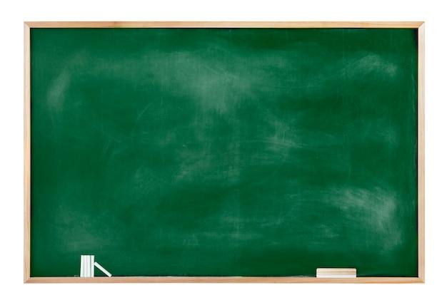 チョークと消しゴムを備えた質感のある黒板