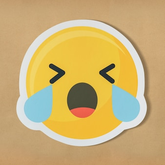 Грустное плачущее лицо смайлик символ