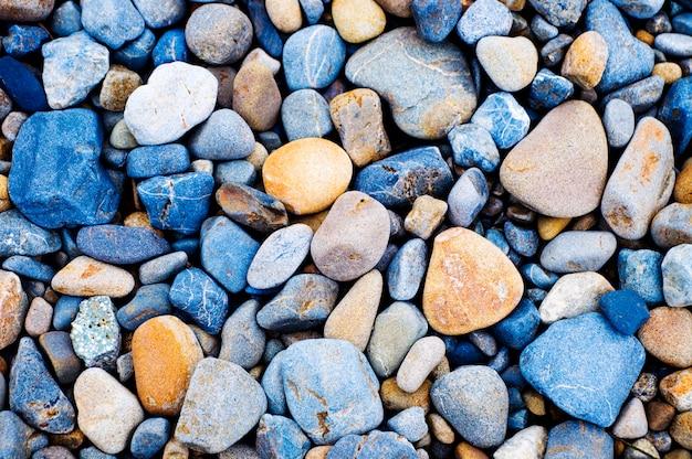 マルチカラーの小石岩の背景