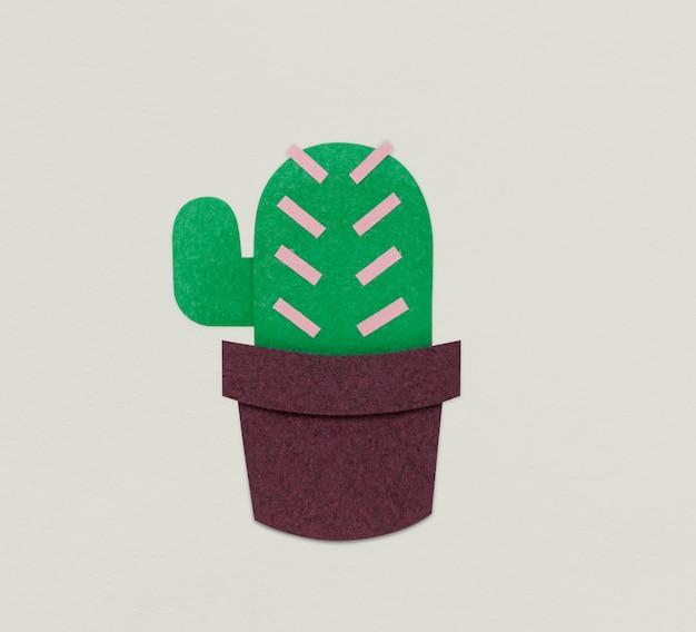 サボテンの植物の花のアイコンの図