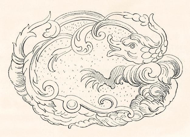 アンティークの中国風模様