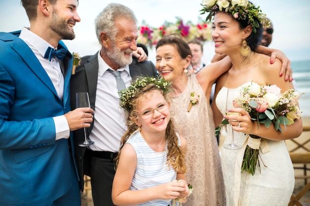 День свадьбы молодой кавказской пары