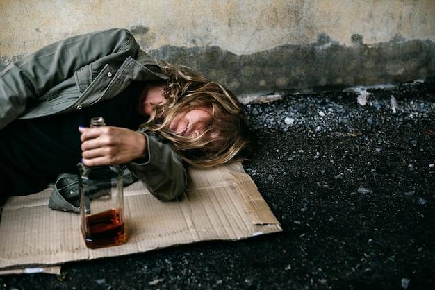 Алкоголик пьяный взрослый сон улицы