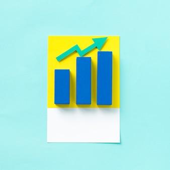ビジネスグラフのペーパークラフトアート