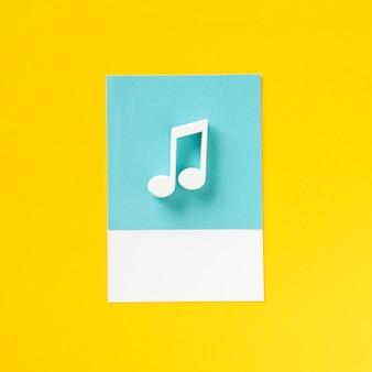 Цветная музыкальная нота аудио символ