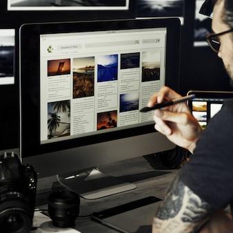 グラフィックデザイン写真コンピューター技術の概念