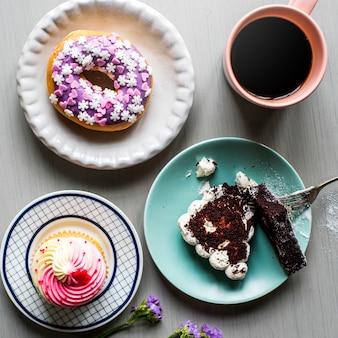 ケーキドーナツベーカリースイーツデザート休憩時間