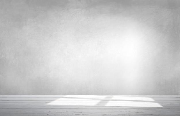 コンクリートの床と空の部屋で灰色の壁
