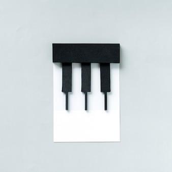 ピアノの鍵のペーパークラフトアート